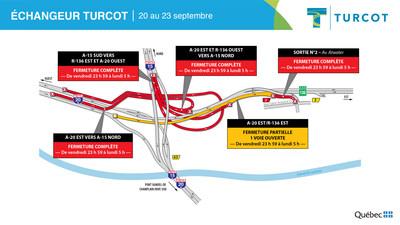 1-Entraves − Échangeur Turcot (Groupe CNW/Ministère des Transports)