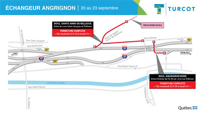2-Entraves – Échangeur Angrignon (Groupe CNW/Ministère des Transports)