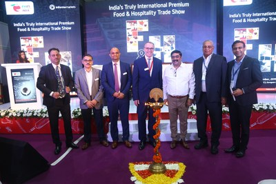 Mr. Rajneesh Malhotra, VP Operations & Asset Management of Chalet Hotels; Abhijit Mukherji, Group Director, Informa Markets in India, Pankaj Shende, Sr. Portfolio Director, Informa Markets in India; Mr. Thomas Schlitt, MD, Messe Dusseldorf India; Mr. Anurag Katriar, President, NRAI; Mr. Param Kannampilli, Chairman and Managing Director Concept Hospitality and Mr. Zia Sheikh, CEO, Svenska Design Hotels at FHIN 2019