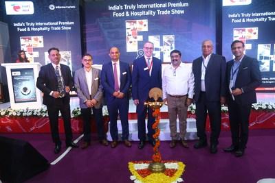 Mr. Rajneesh Malhotra, VP Operations & Asset Management of Chalet Hotels; Abhijit Mukherji, Group Director, Informa Markets in India, Pankaj Shende, Sr. Portfolio Director, Informa Markets in India; Mr. Thomas Schlitt, MD, Messe Dusseldorf India; Mr. Anurag Katriar, President, NRAI; Mr. Param Kannampilli, Chairman and Managing Director Concept Hospitality and Mr. Zia Sheikh, CEO, Svenska Design Hotels at FHIN 2019