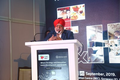 Special Guest Chef Manjit Singh Gill - Corporate Chef ITC & President IFCA at the inauguration ceremony of FHIN 2019 in Mumbai