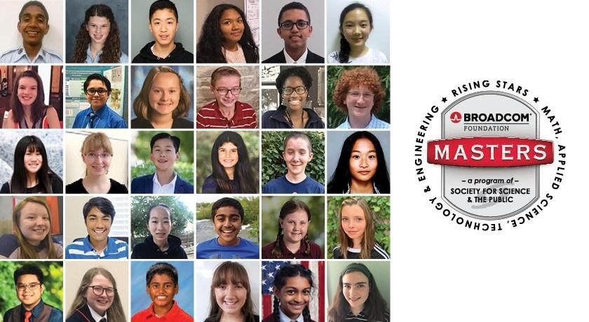 Congratulations to the Broadcom MASTERS Finalists 2019