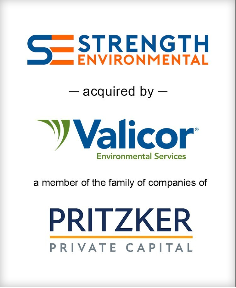 Brown Gibbons Lang & Company (BGL) is pleased to announce the sale of Strength Environmental, LLC to Valicor Environmental Services, a member of the Pritzker Private Capital family of companies. BGL's Environmental & Industrial Services team served as the exclusive financial advisor to Strength Environmental in the transaction.