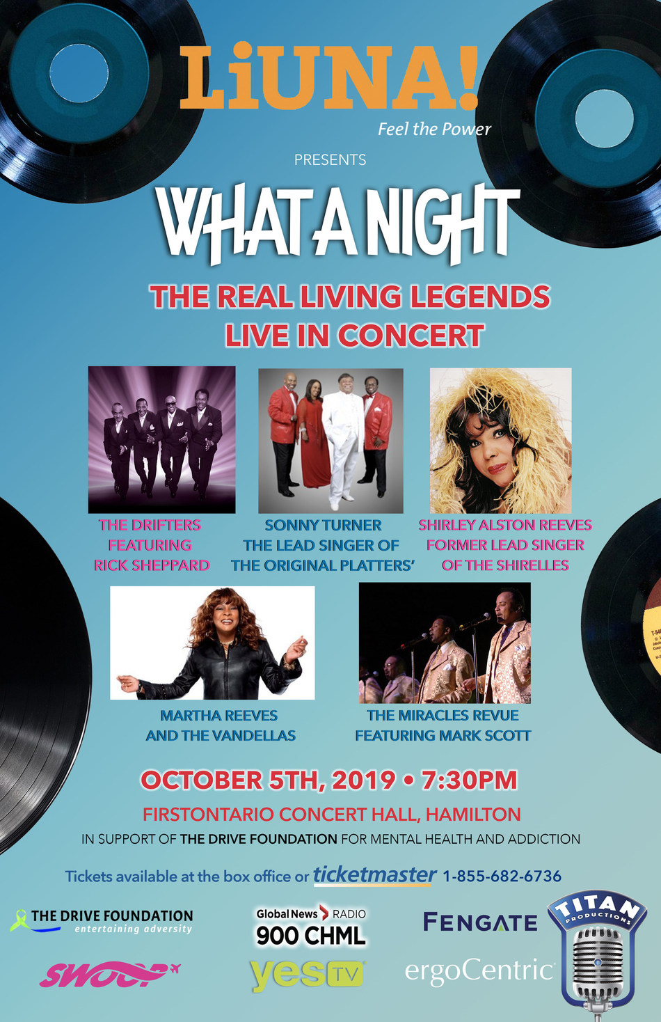 Legendary Acts From the 60's Live in Concert (CNW Group/Titan Shows)
