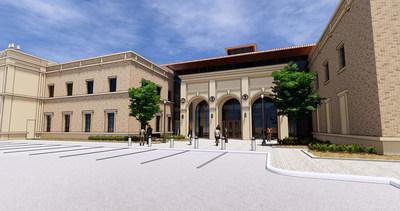 An artist rendering of the School of Veterinary Medicine Amarillo Campus.