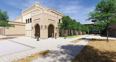 An artist rendering of the School of Veterinary Medicine Amarillo Campus.
