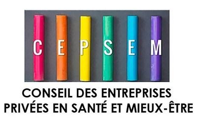 Logo : Conseil des entreprises privées en santé et mieux-être (CEPSEM) (Groupe CNW/Conseil des entreprises privées en santé et mieux-être (CEPSEM))