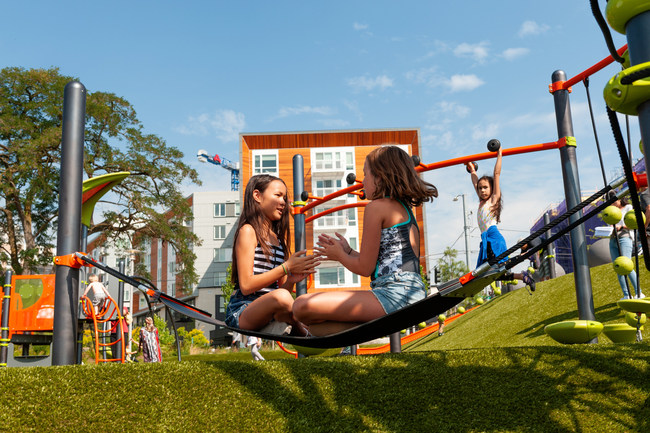 Patented antistatic technology, multicolored options, and antimicrobial agents engineered into the grass blades make Playground Grass by ForeverLawn the most innovative playground surfacing product on the market today.