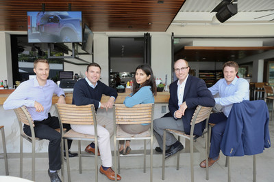 Debut Biotechnology Team (Left to Right): Dr. Nicholas Brideau (Senior Scientist), Brady Beauchamp (Co-Founder & COO), Megha Rawal (Research Scientist), Dr. Gregory Weiss (Co-Founder & Advisor), Dr. Joshua Britton (Co-Founder & CEO).