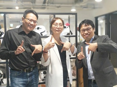 News Photo (from left to right OVO CEO Devin Wu, 17 Media Senior Vice President and Head of New Media Content and Zuvio CEO Chaochi Chang