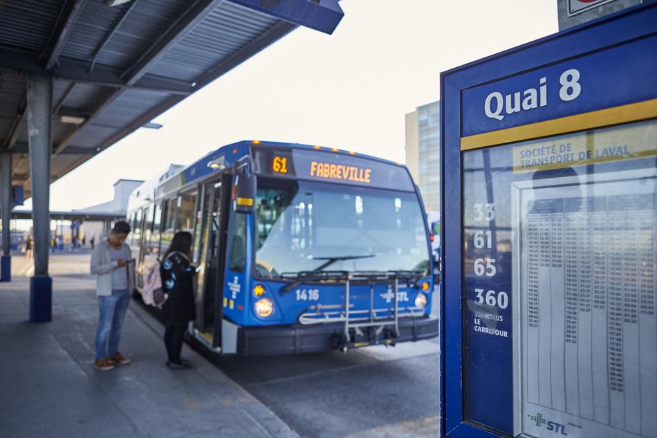 September 20, ride the bus in Laval for only $1 (CNW Group/Société de transport de Laval)