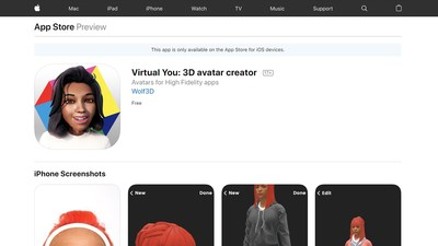 """Download High Fidelity's """"Virtual You: 3D Avatar Creator"""" on the Apple App and Google Play stores"""