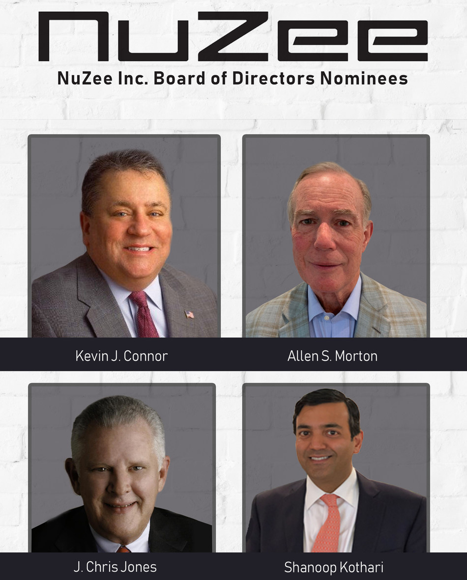 NuZee expands Board of Directors and nominates 4 new people to join the board.