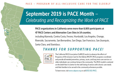 September Recognized As PACE Month In California