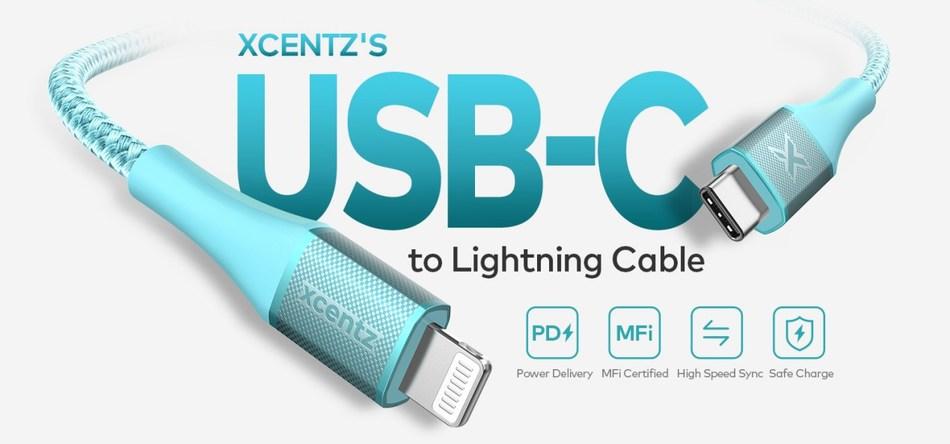 Xcentz MFI USB C to Lightning Cable