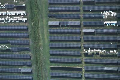 A solar power plant damaged by a tornado. (Source: Heliolytics)