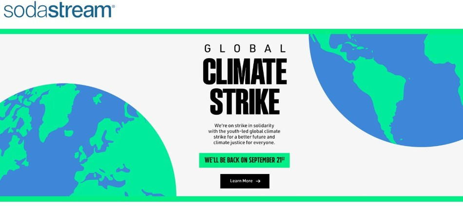 SodaStream Canada has joined the global #ClimateStrike. (CNW Group/SodaStream)