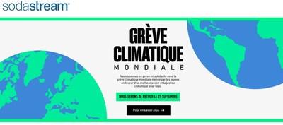 SodaStream annonce sa fermeture vendredi en solidarité avec la Grève mondiale pour le climat (#GrèvepourleClimat) (Groupe CNW/SodaStream)