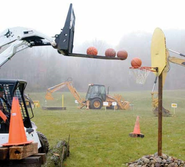 Fun equipment obstacle course!