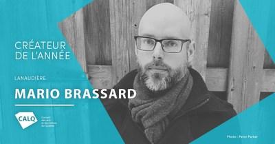 Mario Brassard, lauréat du prix du CALQ - Créateur de l'année dans Lanaudière. Crédit : Peter Parker (Groupe CNW/Conseil des arts et des lettres du Québec)
