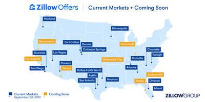 Zillow Offers Markets - September 23, 2019