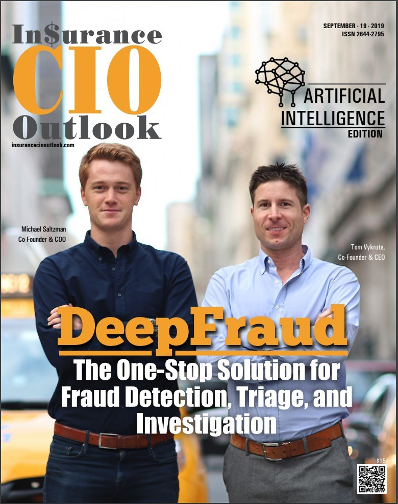 DeepFraud featured on the cover of Insurance CIO Outlook's September issue