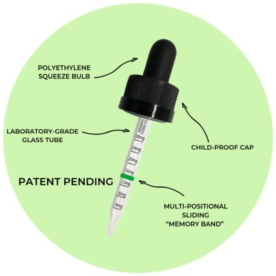"Unique, patent-pending technology to help determine how much CBD is right for you. Includes exclusive ""Memory-Band"" to optimize accuracy and consistency."