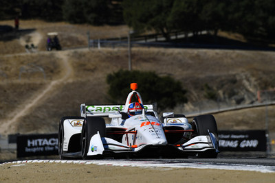 IndyCar Series rookie sensation Colton Herta captured his third pole of the season Saturday in qualifying at WeatherTech Raceway Laguna Seca for Sunday?s season-finale race.