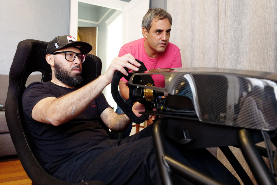 Juan Pablo Montoya became the 'World's Fastest Delivery Driver' as he helped to deliver an Allinsports eRacer gaming rig worth over $30,000 to a lucky prize winner.
