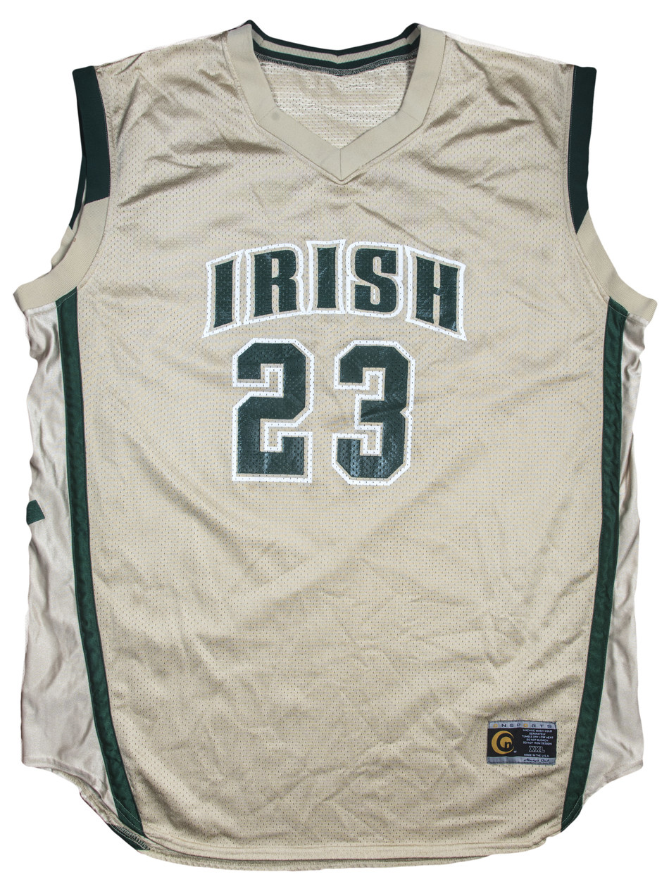 new product f7c9e f0b79 LeBron James Game-Used High School Jersey From Historic ...