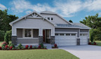 Richmond American's ranch-style Alcott plan at The Back Nine at Reunion in Commerce City features a charming covered porch and convenient 3-car garage.