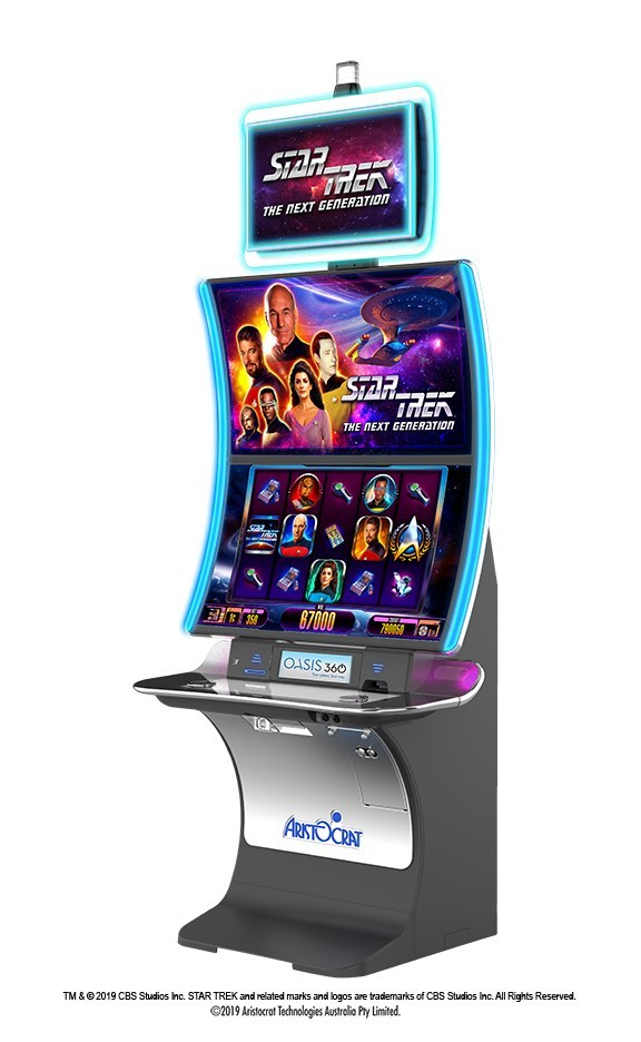 Aristocrat has licensed Star Trek: The Next Generation from CBS Consumer Products for a new slot game to appear on Aristocrat's EDGE X™ cabinet. The game makes its premiere at next month's Global Gaming Expo in Las Vegas in Aristocrat's booth #1133.
