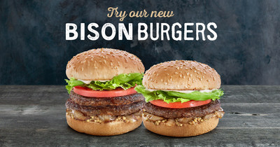 A&W's 100% prairie-raised Bison Burger. (CNW Group/A&W Food Services of Canada Inc.)