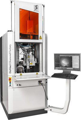 DaVinci Diamond Factory from Synova is an automatic cutting and shaping system for diamonds. DaVinci substantially decreases diamond production time by combining several manufacturing processes into one machine. It also reduces polishing processes to a final finishing step. Copyright Claude Bornand