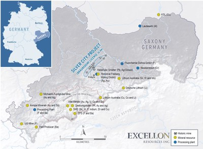 Silver City Project - Saxony, Germany (CNW Group/Excellon Resources Inc.)