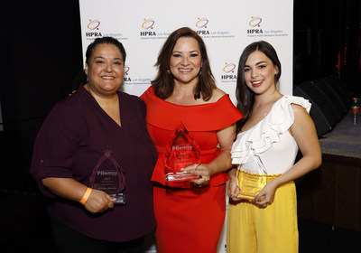 "HPRA-Los Angeles honors three fierce Latinas as part of their Voice of Courage awards at its annual scholarship fundraiser. Martha Arevalo, executive director of CARECEN, Cecilia Bogran, journalist at Univision Los Angeles, and Isabella Gomez, actress from ""One Day at a Time."""